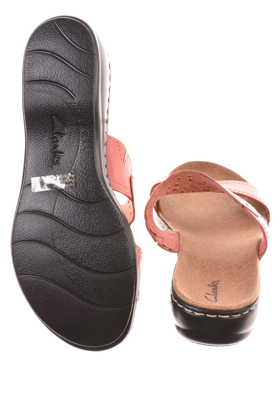 USED Clarks Women's  Wide Shoes  10W Pink