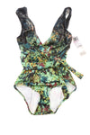 NEW Badgley Mischka Women's Swimsuit  6 Green