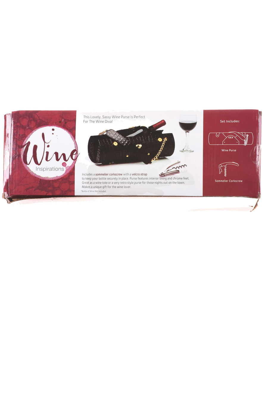 NEW Wine Inspirations Women's Handbag N/A Black