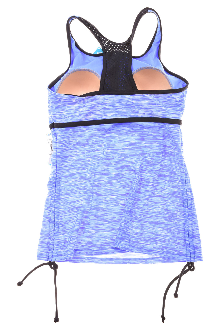 NEW Free Country Women's Swim Top Medium Blue & Black