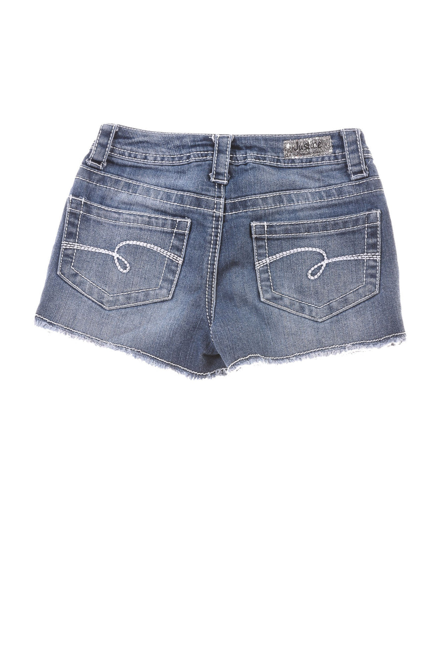 USED Justice Girl's Shorts 10 Blue, Red, & White