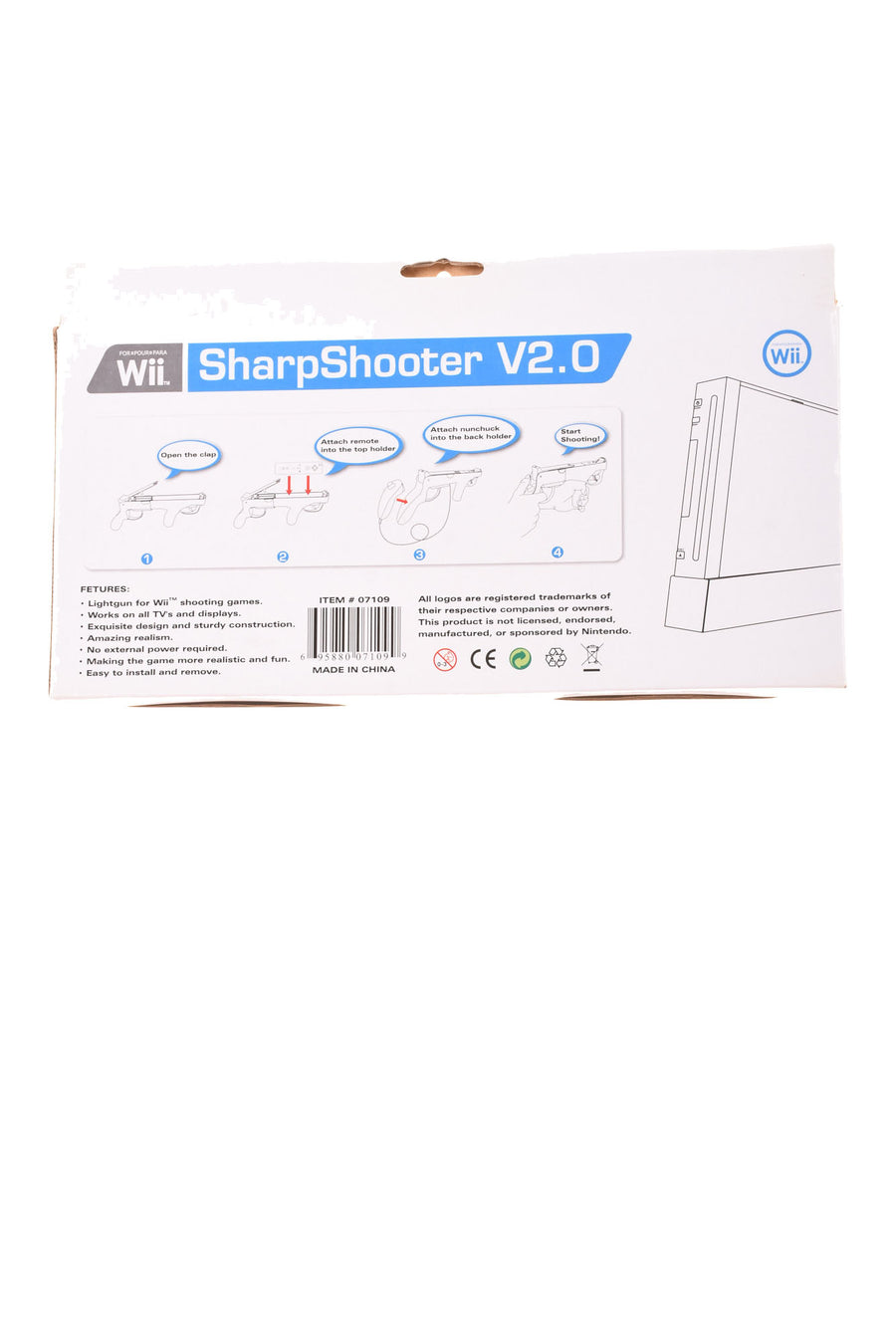 NEW Wii Sharpshooter N/A White