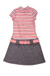 USED Pink & Violet Girl's Dress 10/12 Gray & Pink