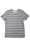 USED Express Women's Top Medium Gray & Black