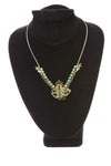 USED No Brand Women's Necklace N/A Green & Gold Tone