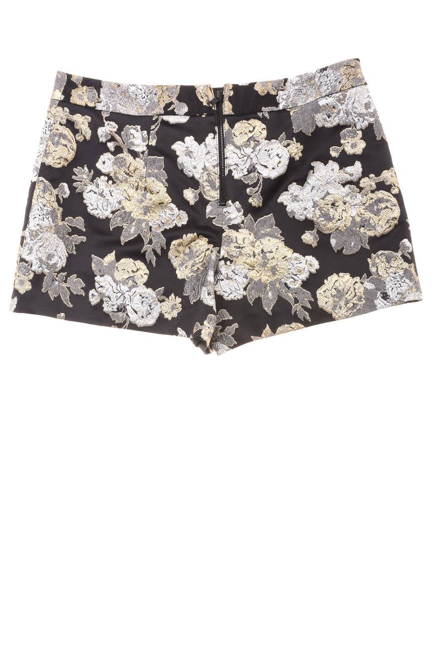 USED Alice & Olivia By Stacey Bendet Women's Shorts 8 Black, Gold Tone, & Silver Tone