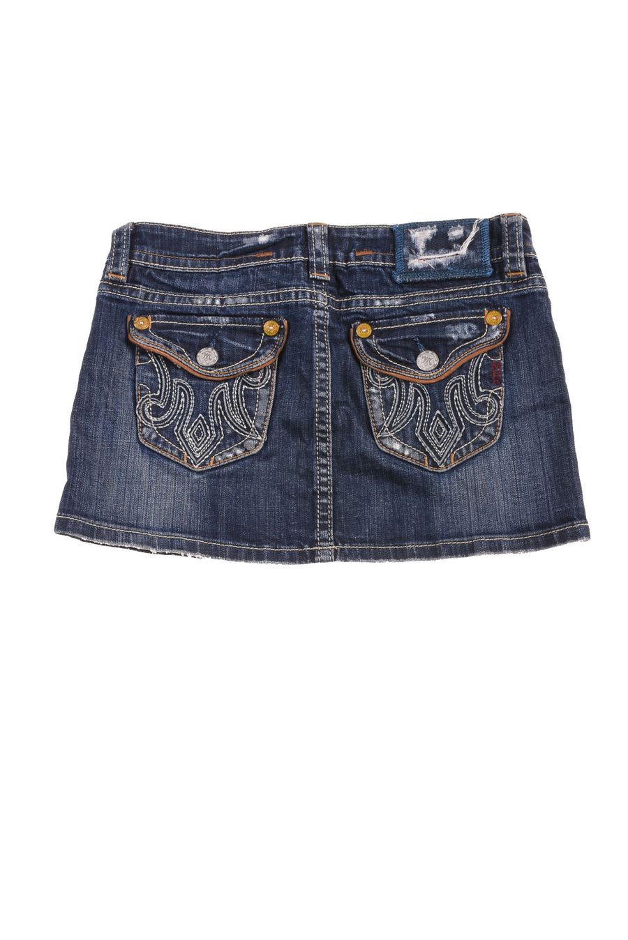 USED Mek Denim Women's Skirt 27 Blue