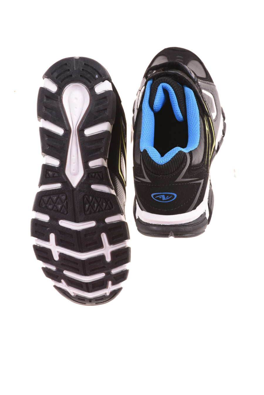 USED Athletic Works Boy's Shoes 4 Black & Blue