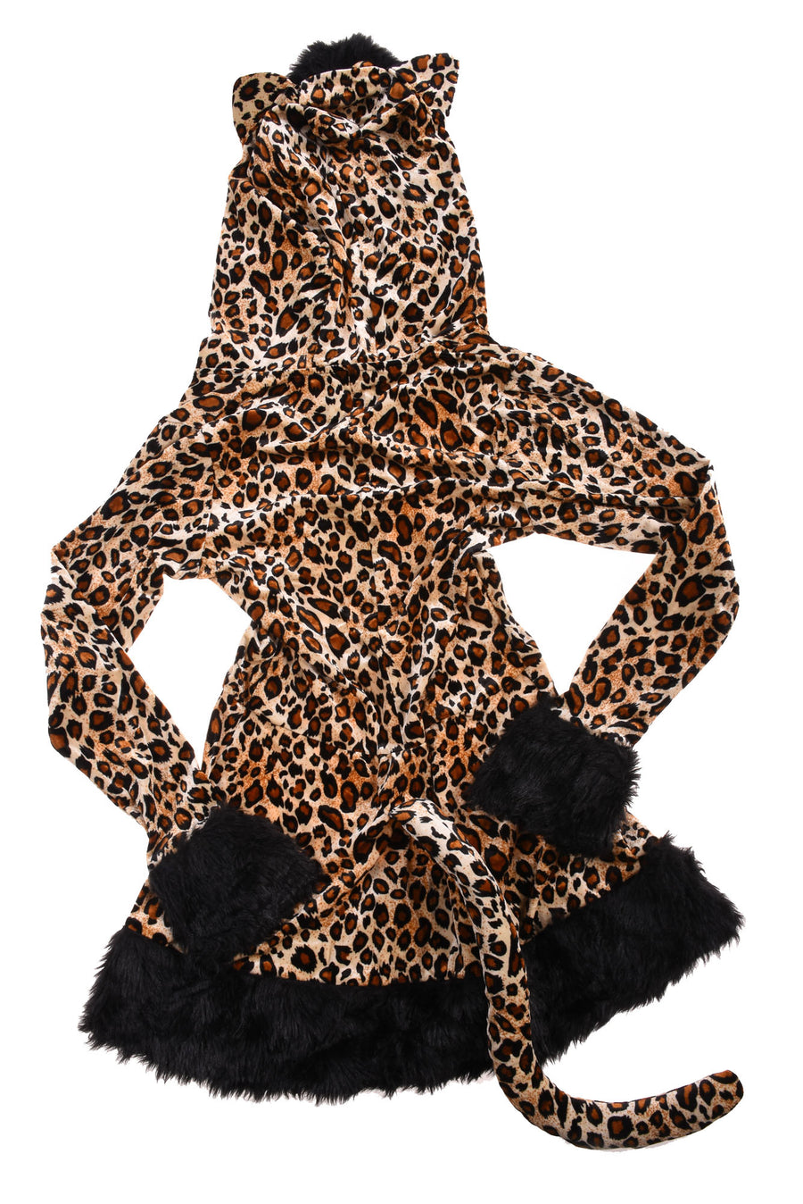 USED No Brand Women's/Juniors Cat Halloween Costume 2-4 Brown & Black