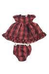 NEW Ralph Lauren Baby Girl's Dress 9 Months Red, Black, & White