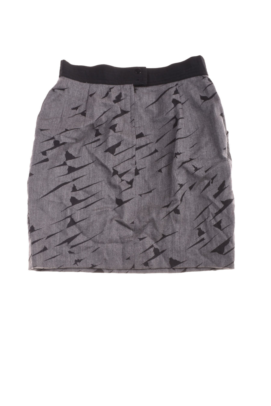 USED Escada Women's Skirt 42 Gray & Black