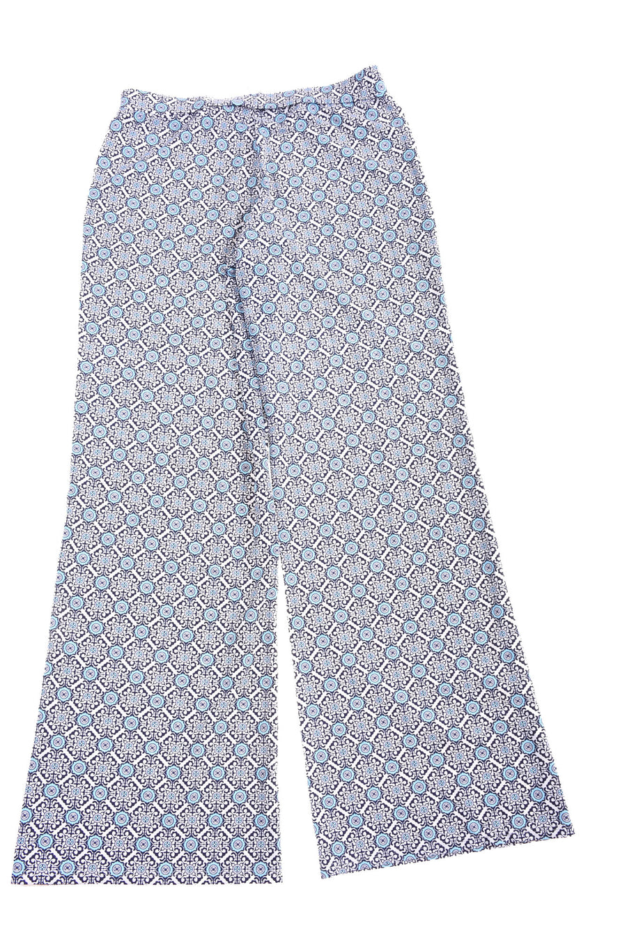 USED Jude Connally Women's Pants Small Blue & White