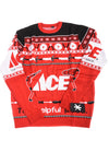 NEW Klew Men's Sweater X-Large Red, Black, & White