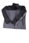 USED Columbia Men's Jacket Large Black & Gray