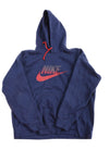 USED Nike Men's Plus Hoodie XX-Large Blue & Red