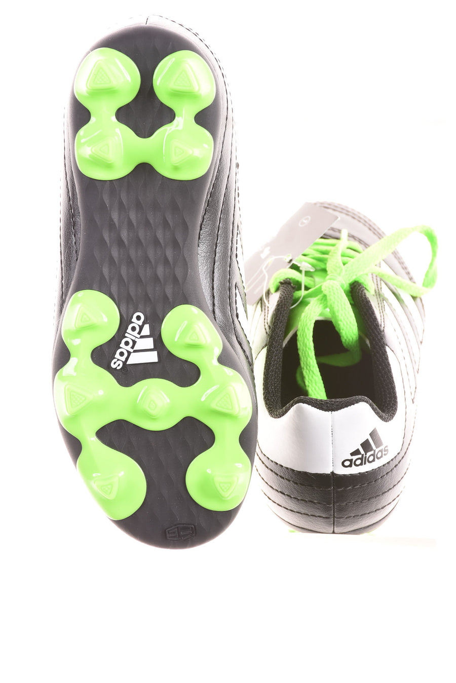 USED Adidas Boy's Cleats 11 Green & Black