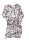 USED Parker Women's Dress Small Black Graphic