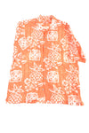 USED Tommy Bahama Men's Shirt Medium Orange & White