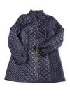 USED Via Spiga Women's Coat X-Large Navy Blue