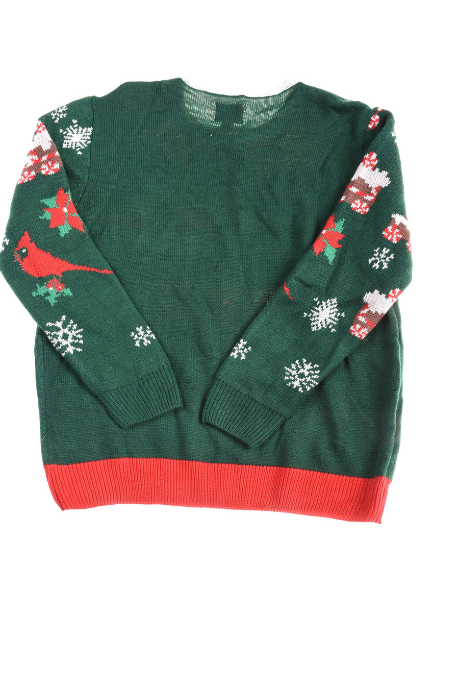 USED Party Sweater Men's Sweater X-Large Green, Red, & White