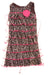 USED Sweet Heart Rose Baby Girl's Dress 5 Brown & Pink