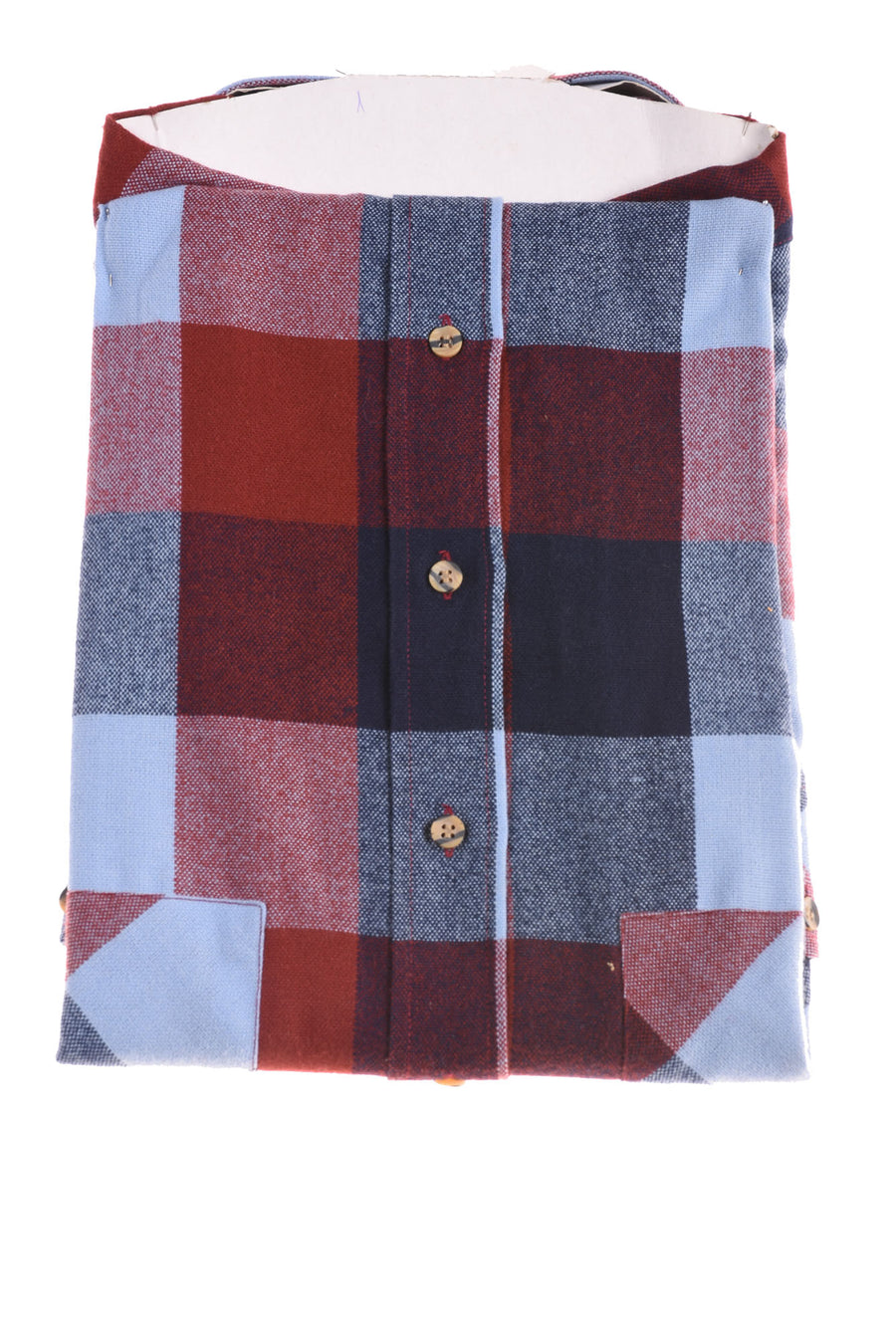 NEW Sutter & Grant Men's Shirt X-Large Blue & Red