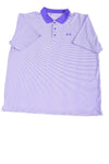 USED Under Armour Men's Plus Shirt 2X-Large Purple & White