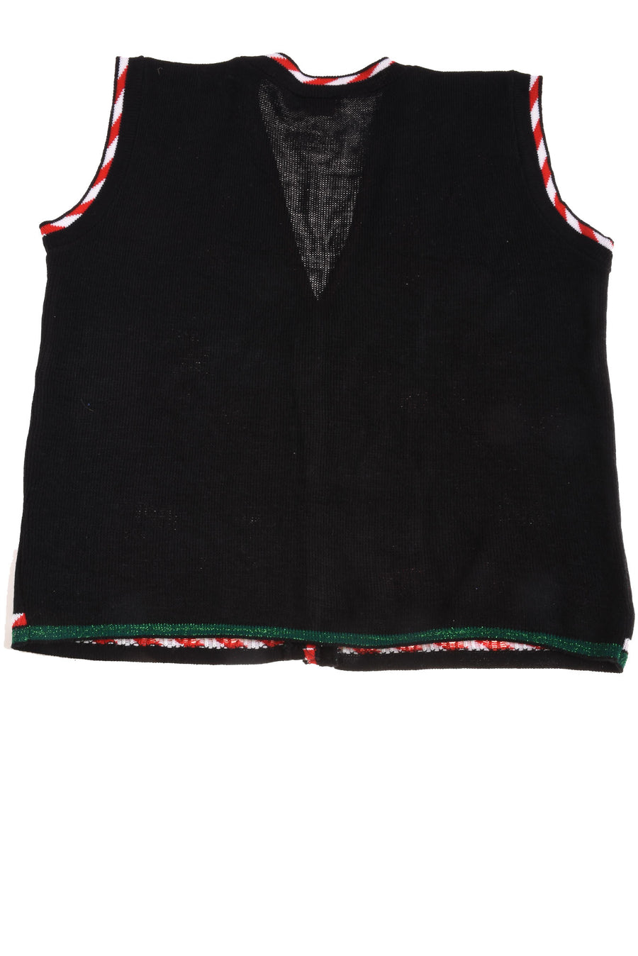 USED Snoopy & Friends Women's Plus Vest 18W Black, Red, & White