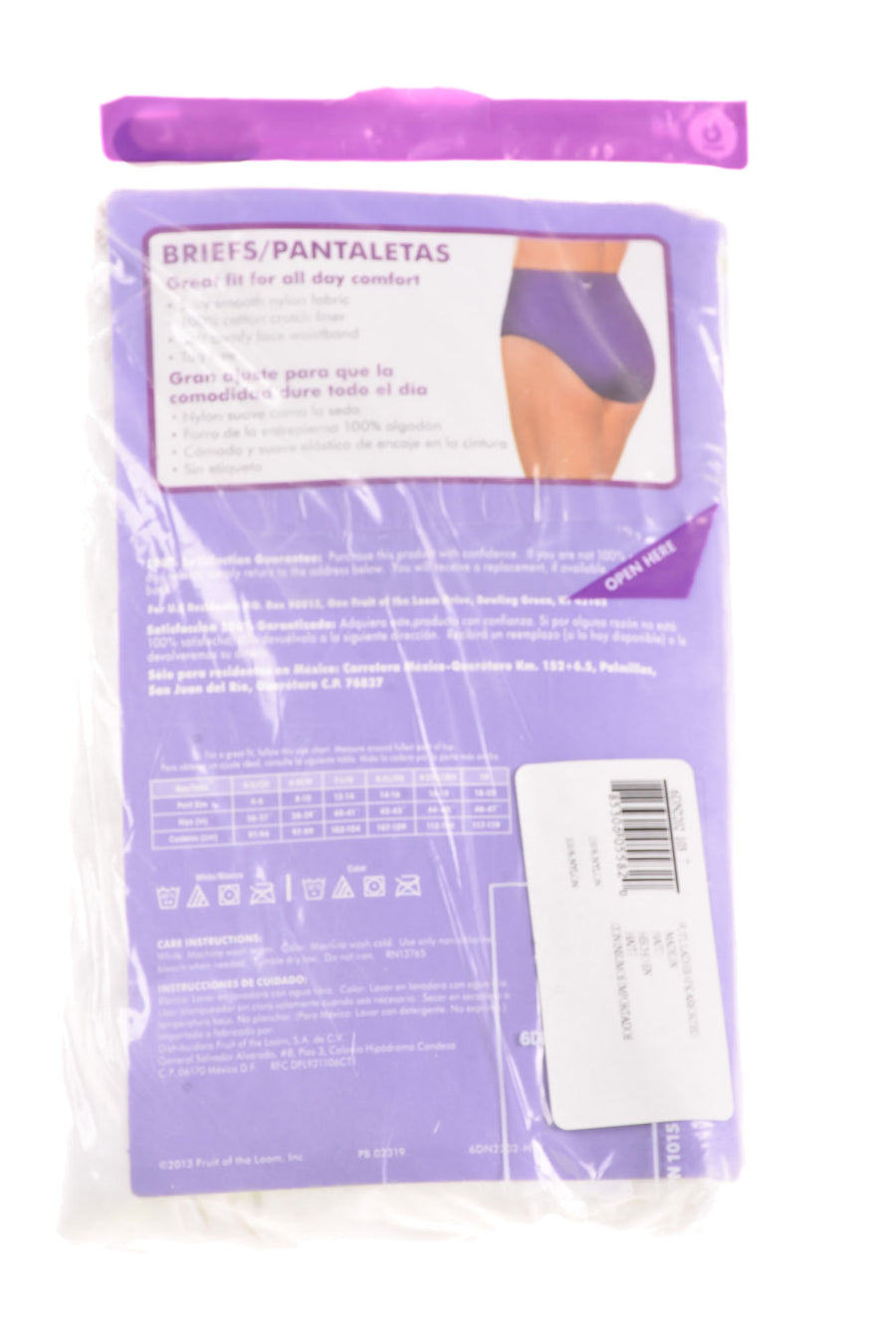 NEW Fruit Of The Loom Women's Briefs Large White