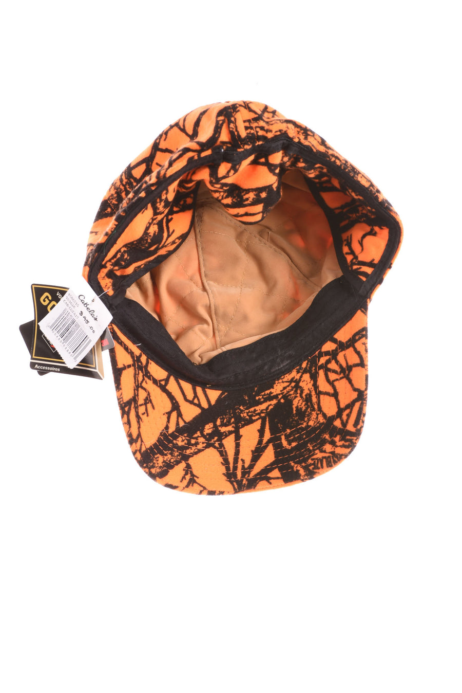 NEW Cabela's Men's Hat Medium Orange & Black