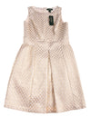 NEW Lauren Ralph Lauren Women's Dress 8 Ivory & Gold Tone