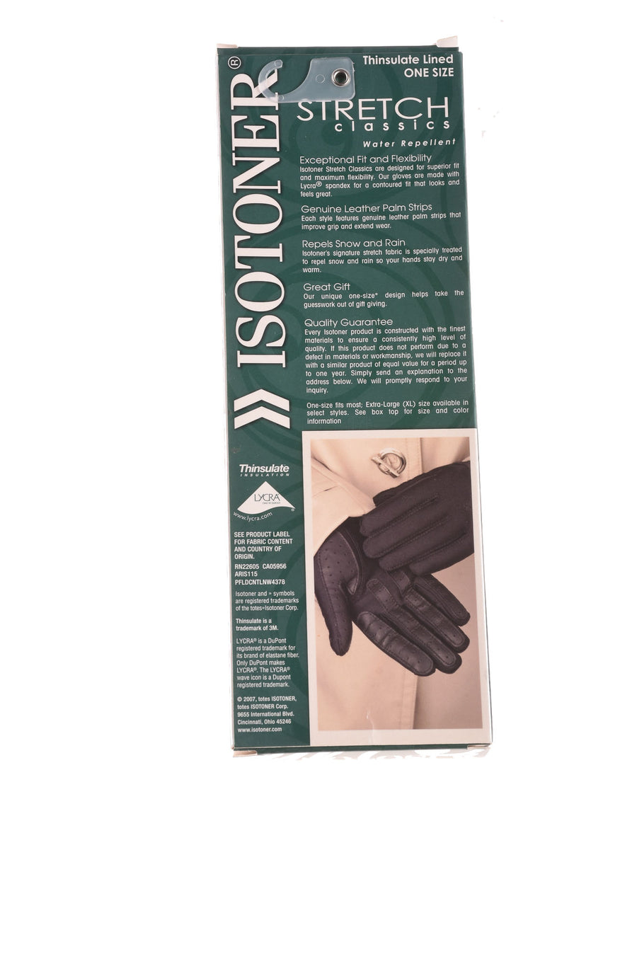 NEW Isotoner Women's Gloves One Size Black
