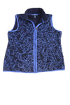 USED Karen Scott Women's Vest Large Blue & Black