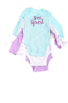 Baby Girl's 4 Pack Bodysuits By Koala Kids
