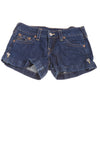 USED True Religion Women's Shorts 29 Blue