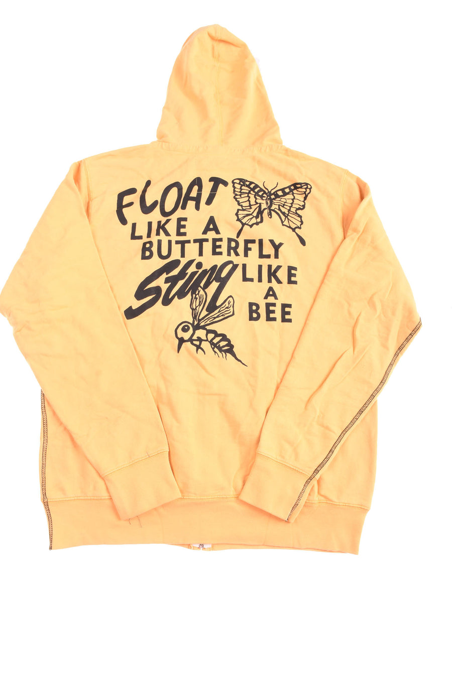 USED Roots Of Fight Men's Zip Hoodie X-Large Yellow