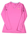 USED Nike Pro Women's Top Medium Fuschia & Green