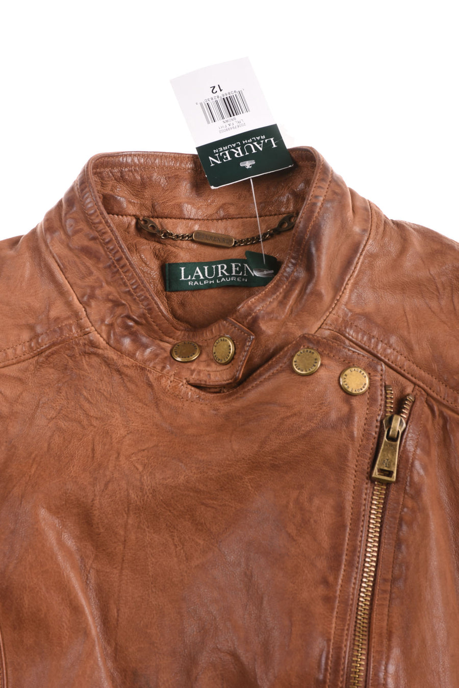 NEW Lauren Ralph Lauren Women's Vest 12 Brown