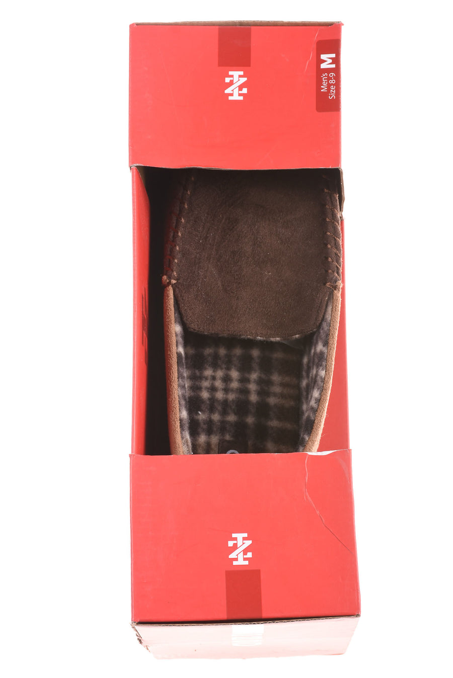 NEW Izod Men's Slippers Medium Brown