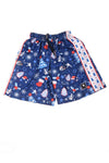 USED Lacrosse Unlimited Boy's Shorts X-Large Blue & Red