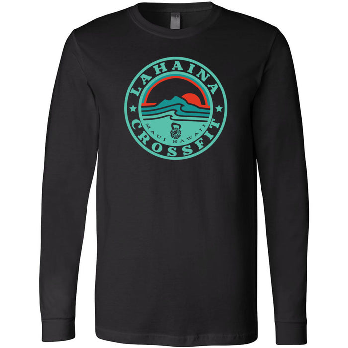 Lahaina CrossFit - 100 - Sunrise Teal - Bella + Canvas 3501 - Men's Long Sleeve Jersey Tee