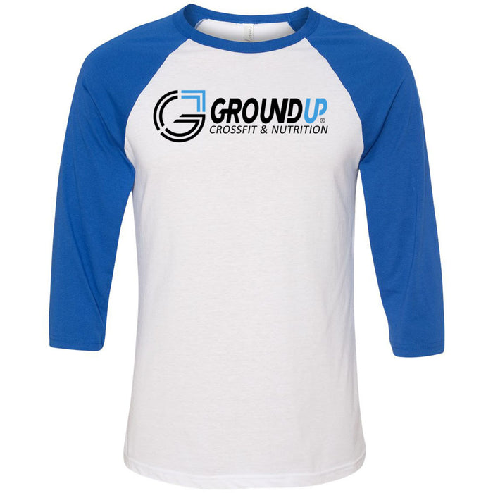 CrossFit Ground Up - 100 - Standard - Bella + Canvas - Men's Three-Quarter Sleeve Baseball T-Shirt