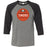 CrossFit Timoro - 100 - Orange - Bella + Canvas - Men's Three-Quarter Sleeve Baseball T-Shirt