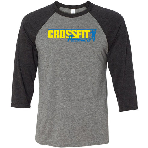 CrossFit Parramatta - 100 - Standard - Bella + Canvas - Men's Three-Quarter Sleeve Baseball T-Shirt