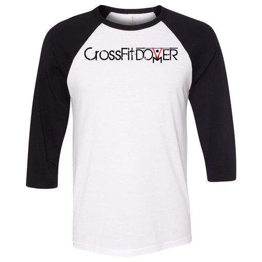 CrossFIt Dover - 100 - Dover - Bella + Canvas - Men's Three-Quarter Sleeve Baseball T-Shirt