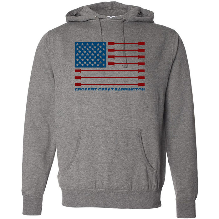 CrossFit Great Barrington - 201 - Patriot - Independent - Hooded Pullover Sweatshirt