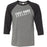 Coast Range CrossFit - 100 - Slant - Bella + Canvas - Men's Three-Quarter Sleeve Baseball T-Shirt