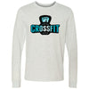Carriage House CrossFit - 100 - Blue - Bella + Canvas 3501 - Men's Long Sleeve Jersey Tee