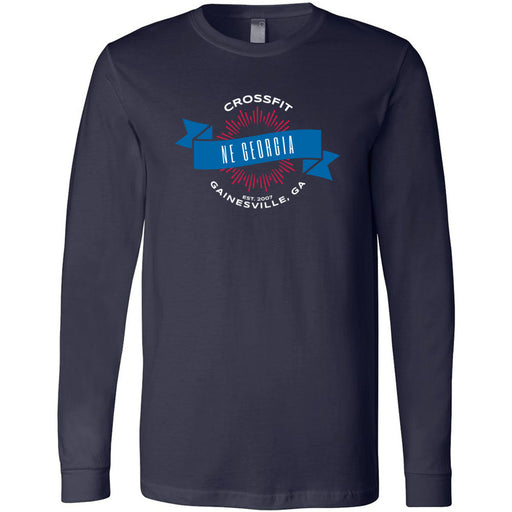 CrossFit NE Georgia - 100 - L1 - Bella + Canvas 3501 - Men's Long Sleeve Jersey Tee