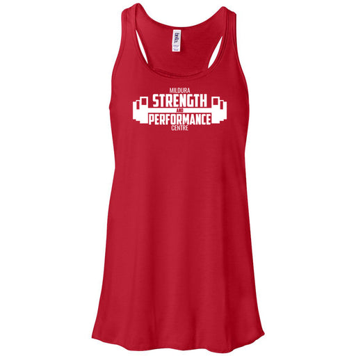 CrossFit Mildura - 100 - Strength & Performance - Bella + Canvas - Women's Flowy Racerback Tank